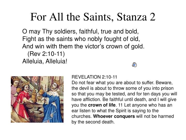 For All the Saints, Stanza 2