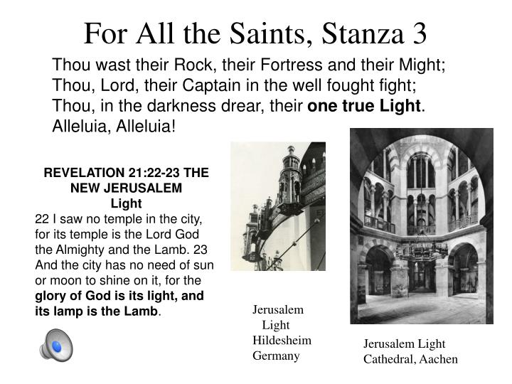 For All the Saints, Stanza 3