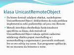 klasa unicastremoteobject