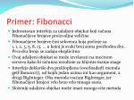 primer fibonacci