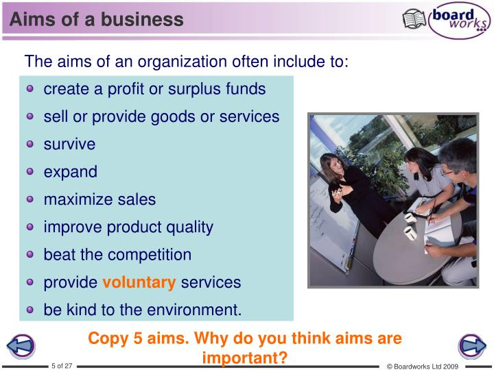 organisational aims and objectives Organisational and financial characteristics of different types of travel and tourism organisations aims and objectives aims the users for whom actuarial information is created can place a high degree of reliance on its relevance, transparency of assumptions, completeness and.