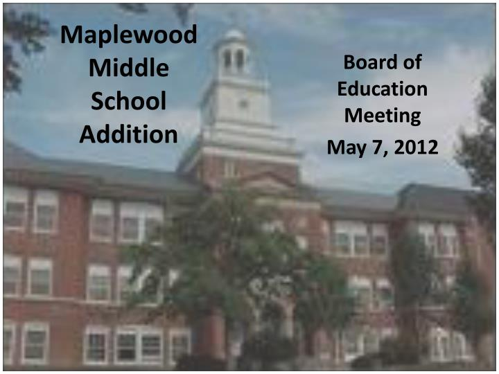 maplewood middle school addition