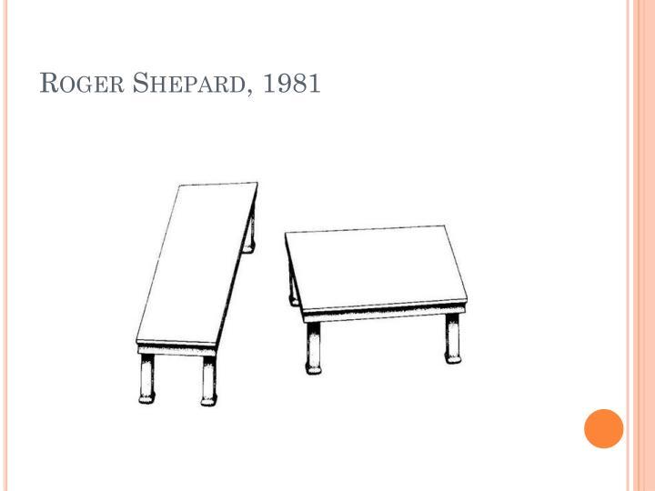 Roger Shepard, 1981