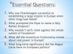essential questions