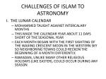 challenges of islam to astronomy