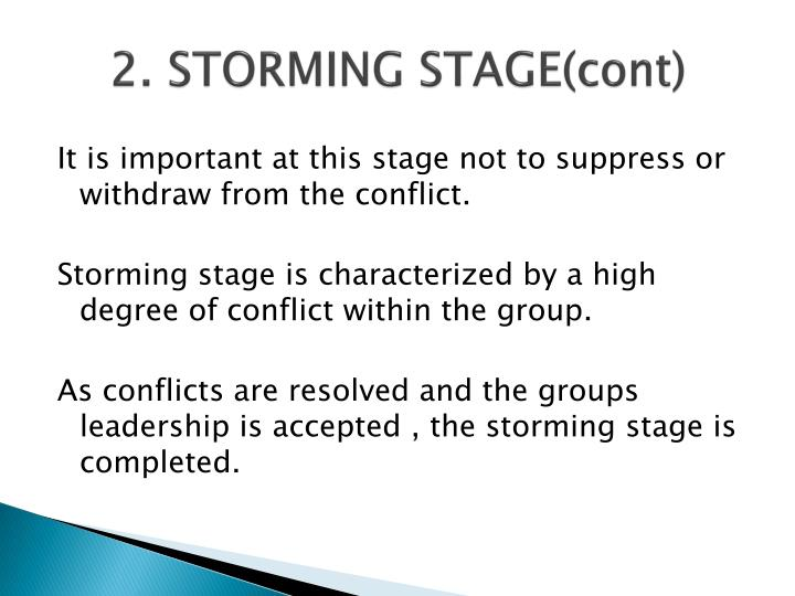 2. STORMING STAGE(cont)