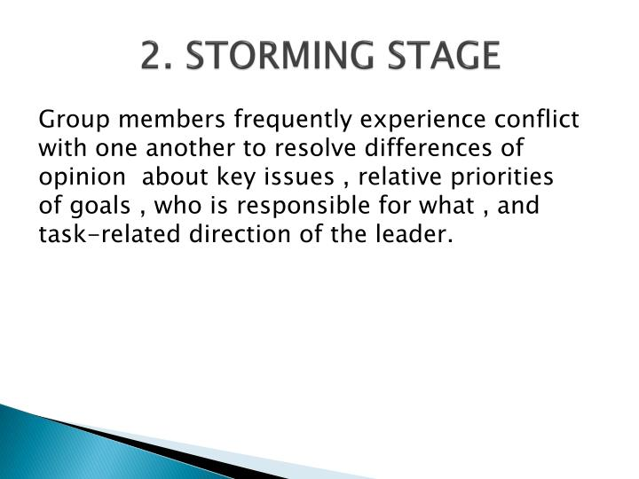 2. STORMING STAGE
