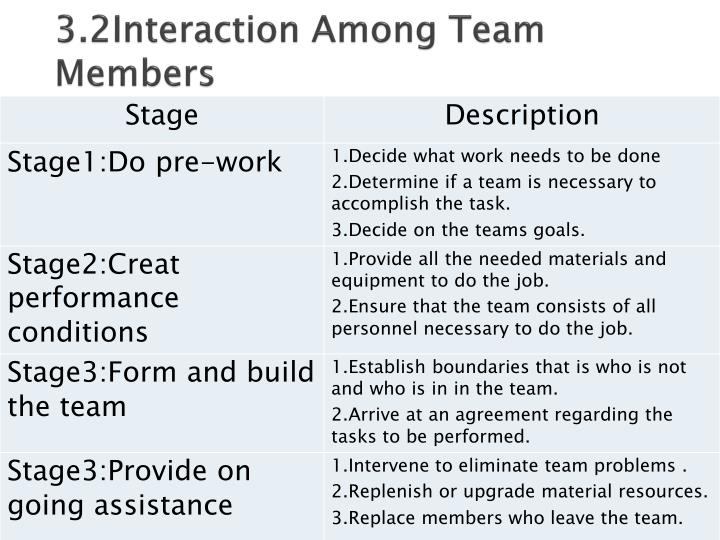 3.2Interaction Among Team Members