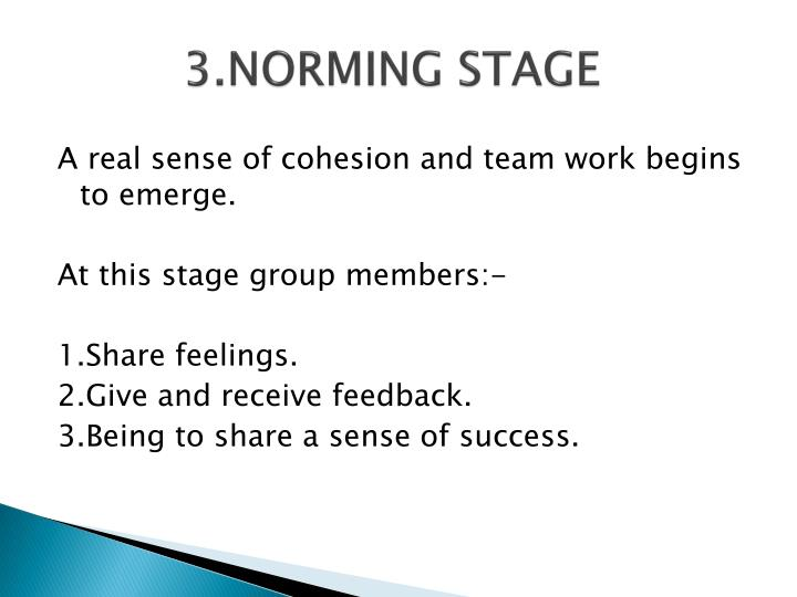 3.NORMING STAGE