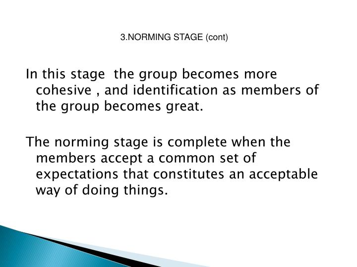 3.NORMING STAGE (cont)