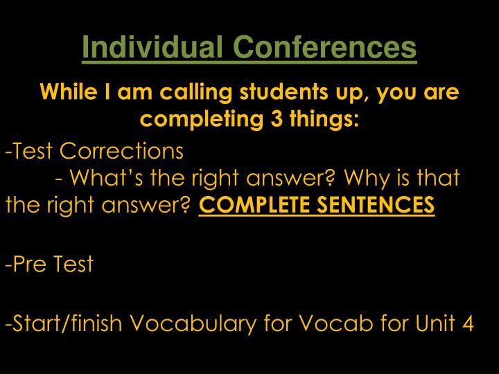 Individual Conferences