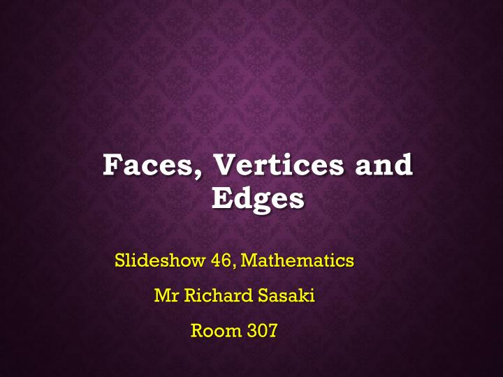 faces vertices and edges