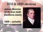 1816 1820 elections