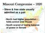 missouri compromise 18201