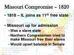 missouri compromise 18202