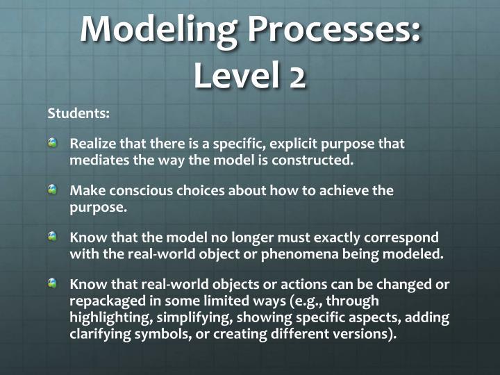 Modeling Processes: Level 2