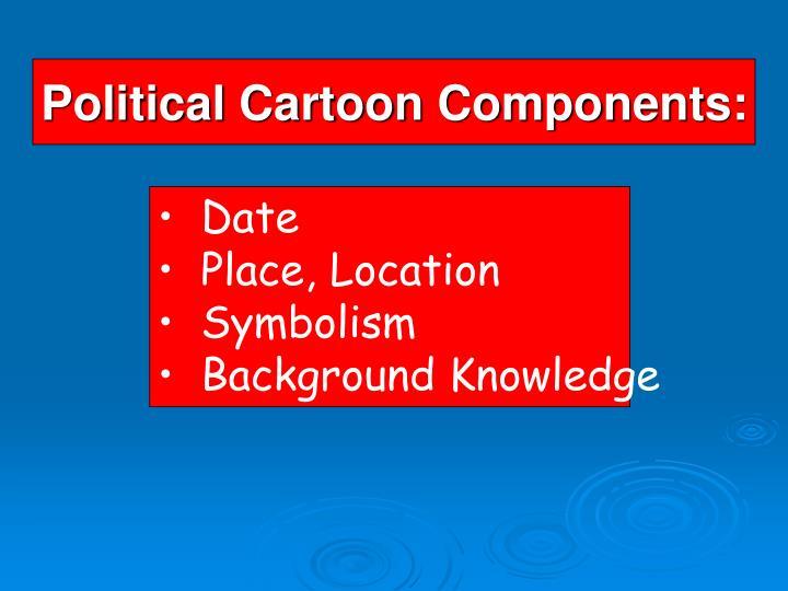 Political cartoon components