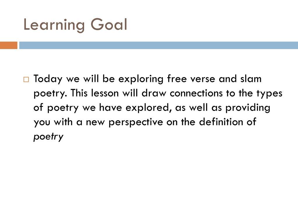 PPT - Free Verse, slam poetry PowerPoint Presentation - ID
