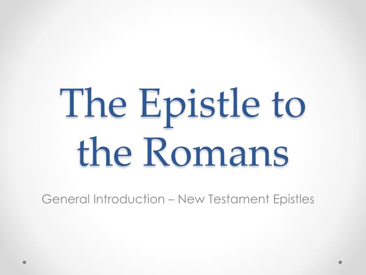 the epistle to the romans n.