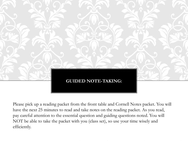 Guided Note-Taking: