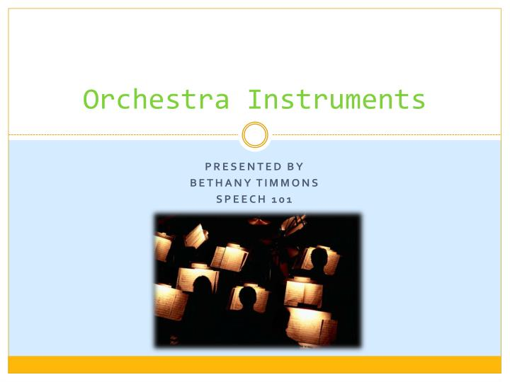 orchestra instruments n.