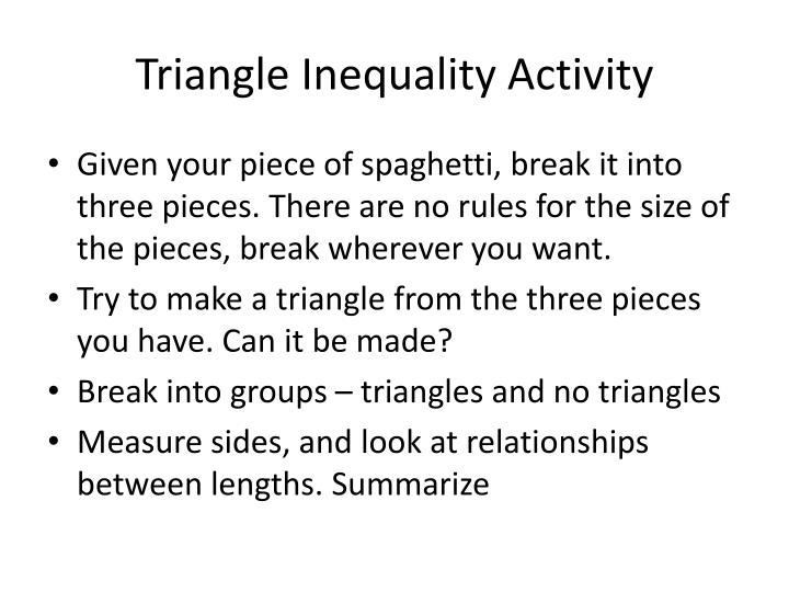 PPT Triangle Inequality Activity PowerPoint Presentation