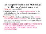 an example of what it is and what it might be the case of electric power grids