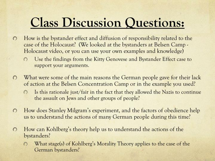 ppt argumentative essay bystander effect obedience morality class following questiondiscussion questions how is the bystander effect