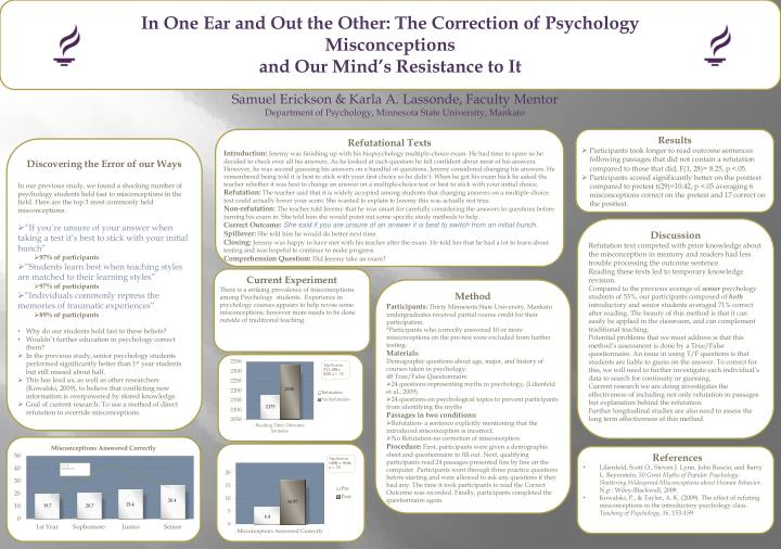 In One Ear and Out the Other: The Correction of Psychology