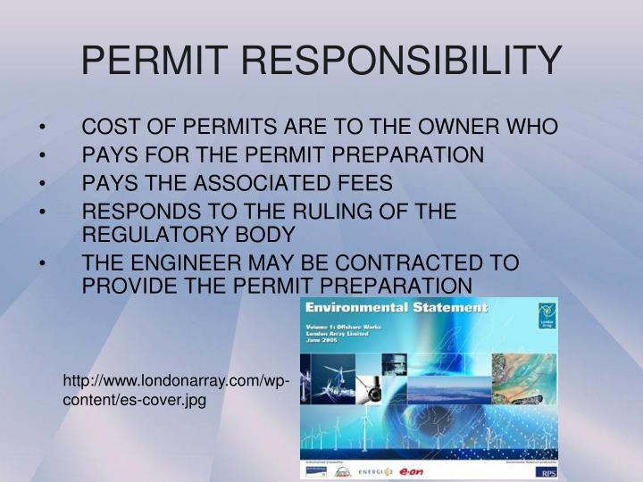 PERMIT RESPONSIBILITY