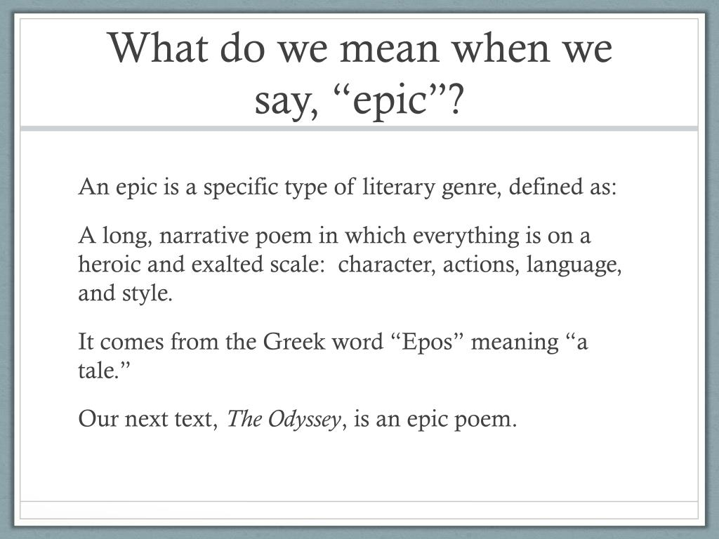 Epico Meaning: That's Epic, Dude! PowerPoint Presentation