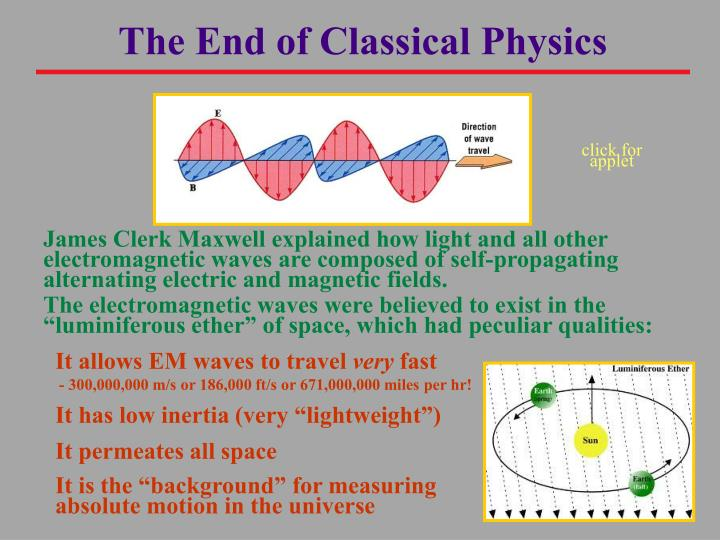 The End of Classical Physics