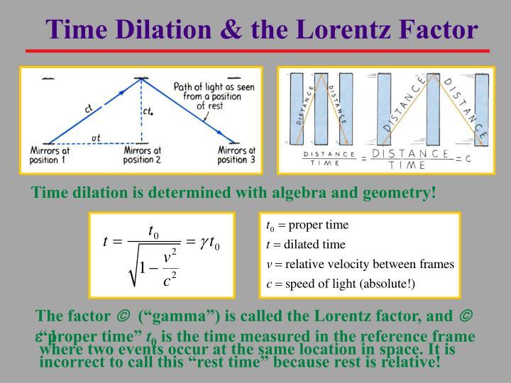 Time Dilation & the Lorentz Factor