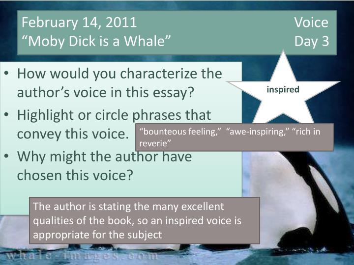 the authorial voice essay Essay mom 139 likes 55 talking about this a logical, stress-free approach to admissions essays while making sure that i didn't lose my authorial voice.