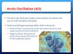 arctic oscillation ao