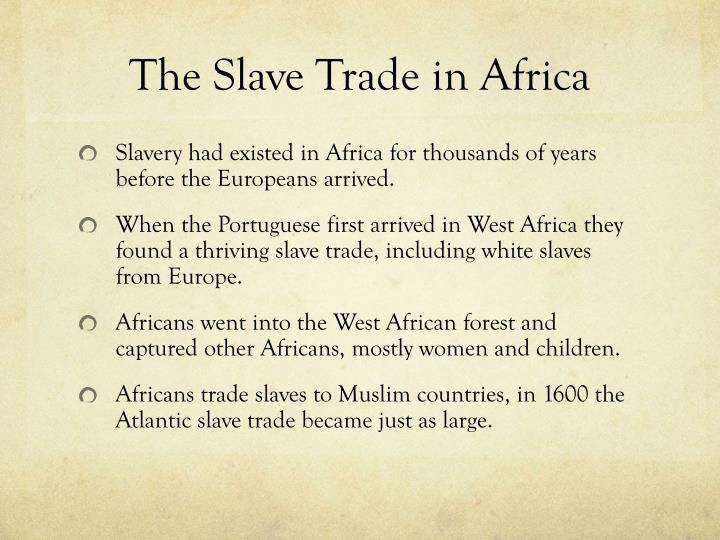 The Slave Trade in Africa