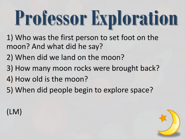Professor Exploration