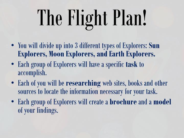 The Flight Plan!