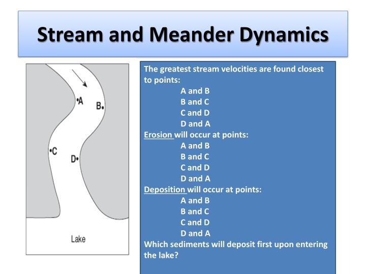 Stream and Meander Dynamics