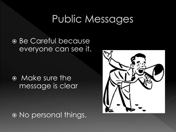 Public Messages