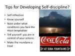tips for developing self discipline