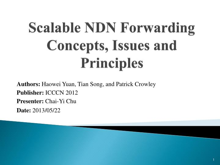 scalable ndn forwarding concepts issues and principles n.