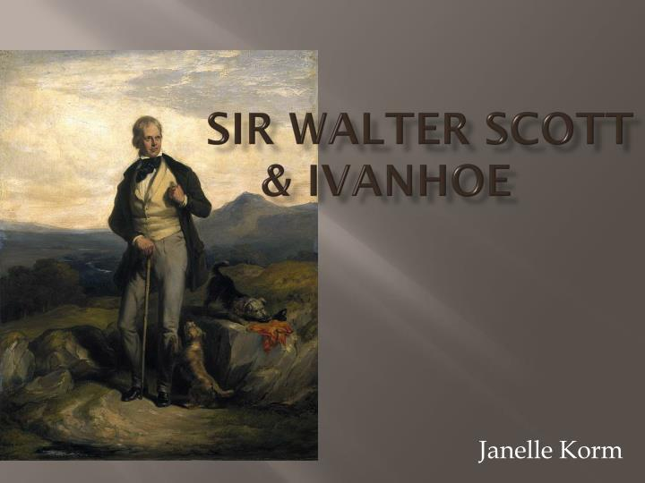 sir walter scott ivanhoe n.