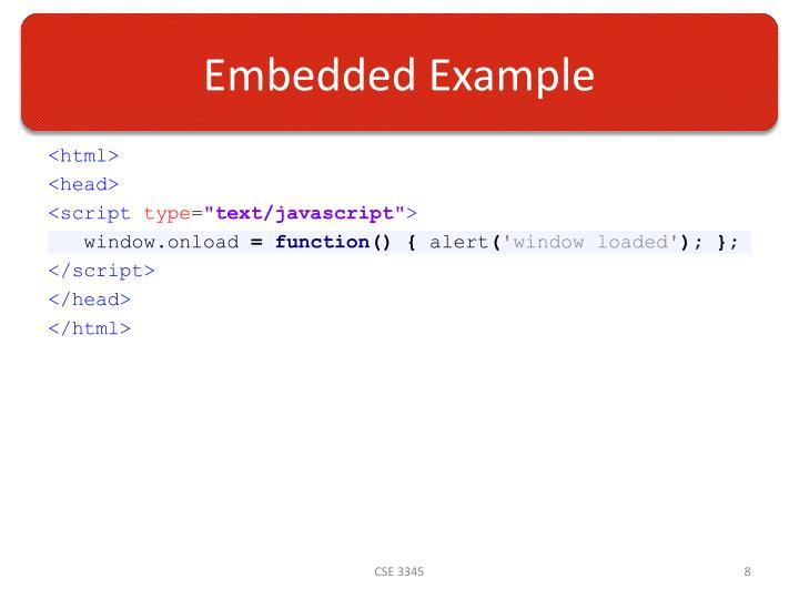 Embedded Example