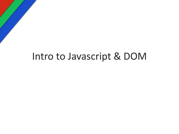 intro to javascript dom n.