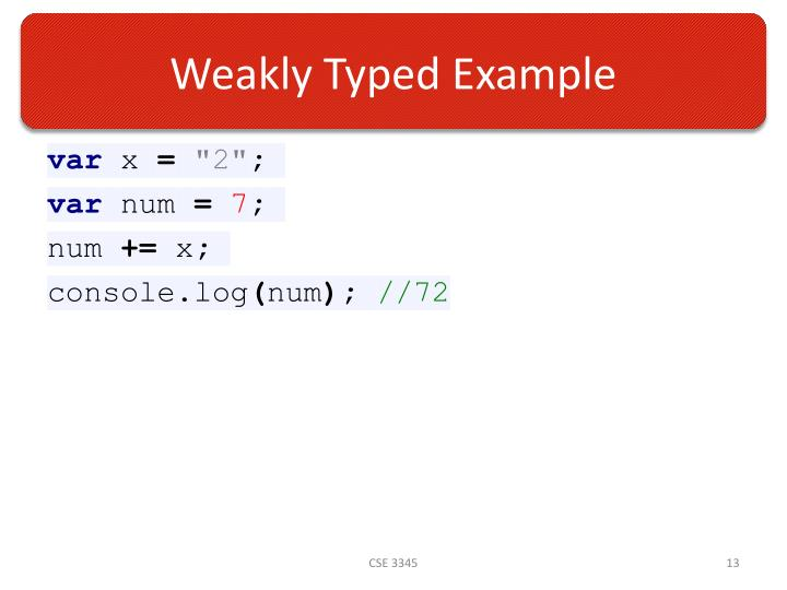 Weakly Typed Example