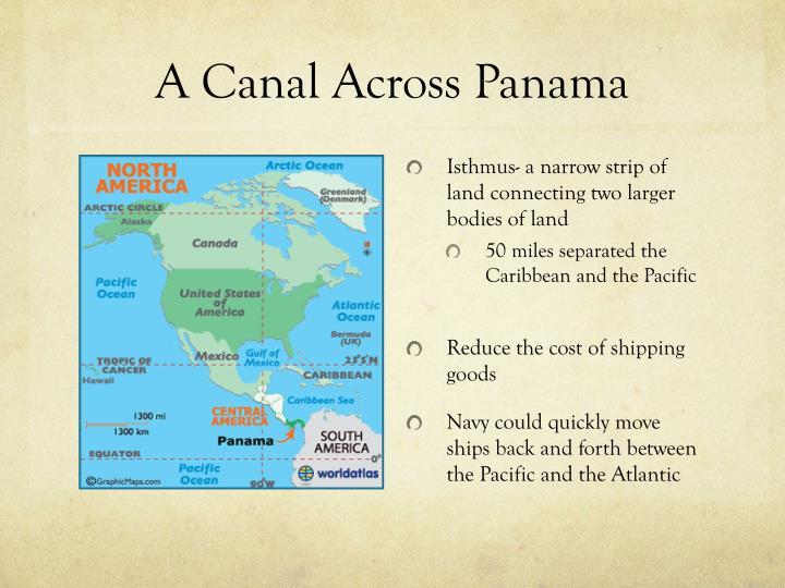 A canal across panama