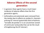 adverse effects of the second generation
