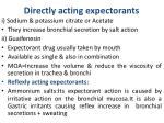 directly acting expectorants