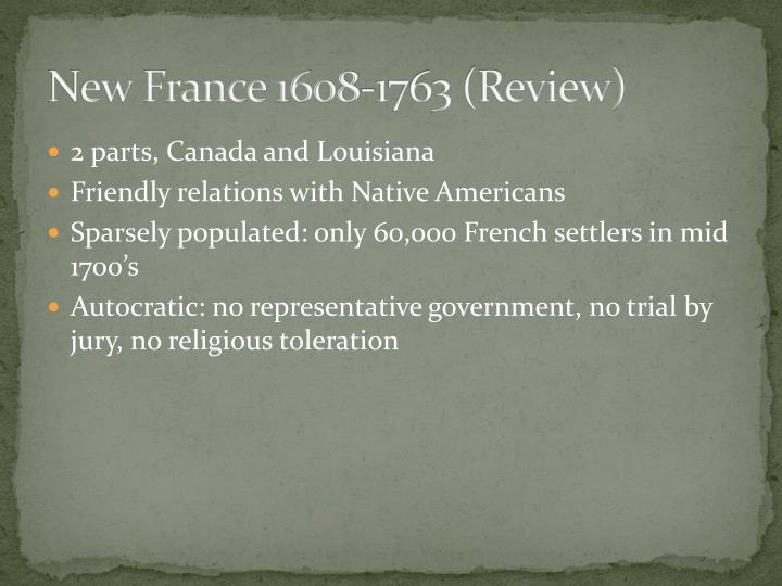 New france 1608 1763 review